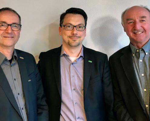 Der neue Vorstand der BAND. Dr. Peter Gretenkort (links), Dr. Florian Reifferscheid (Mitte) und Prof. Jörg Beneker (rechts).